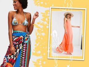 沙滩罩衫——妩媚飘逸兼防晒的泳装外衣